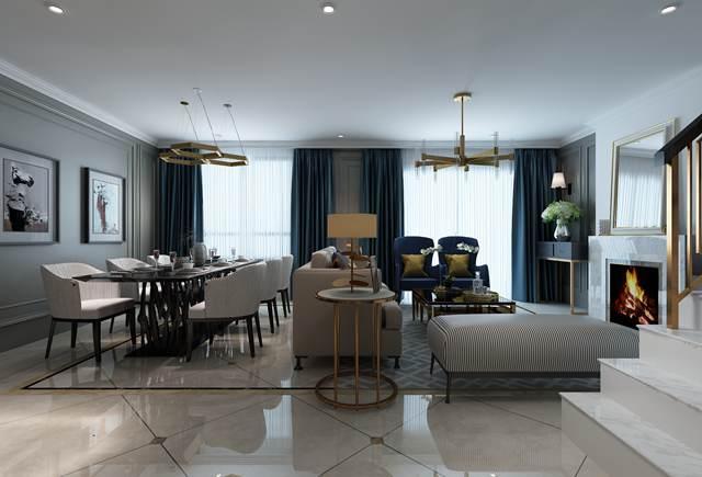 华润橡树湾联排别墅现代美式风格