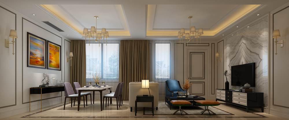 华润橡树湾联排别墅欧式风格设计案例