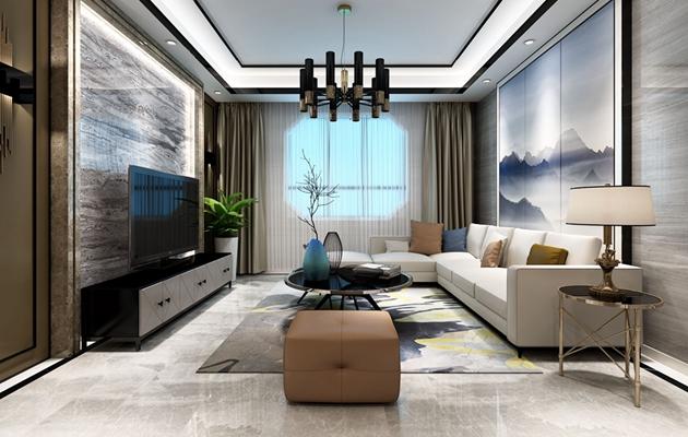 新惠家园三室两厅现代混搭风格案例赏析