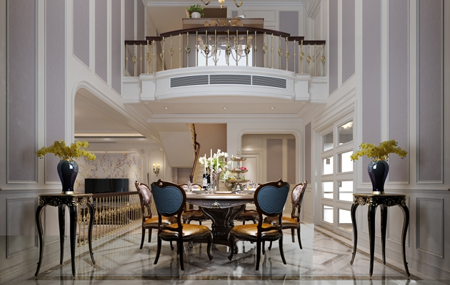 龙湖悠山郡联排别墅290平方欧式风格