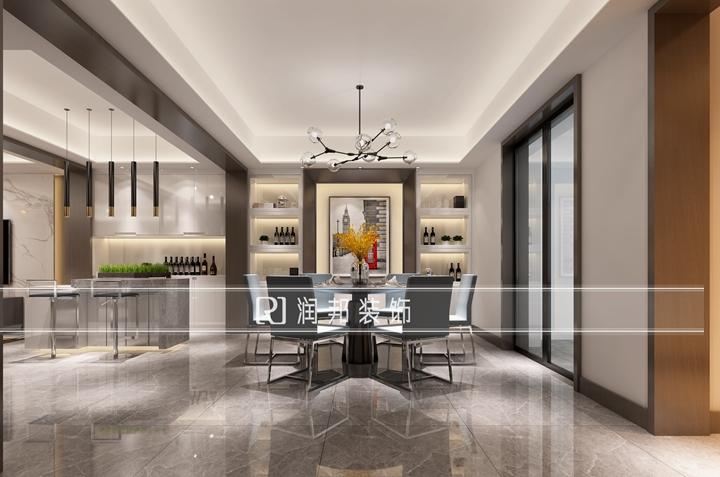 龙湖滟澜山复试洋房260平方现代风格作品