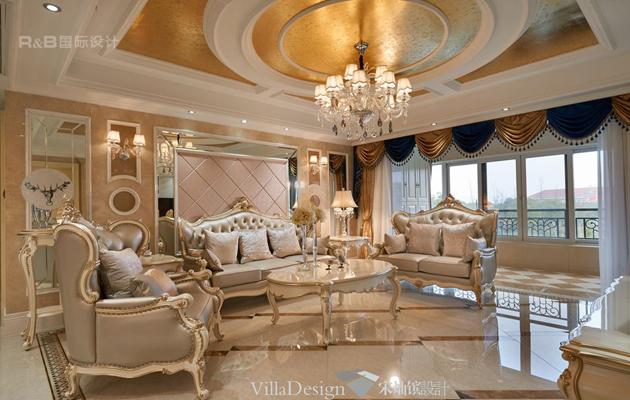 太湖锦园160平方欧式奢华风格设计案例