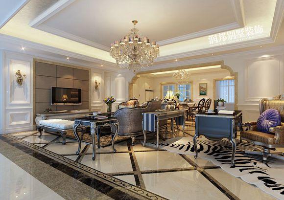 阿卡迪亚160平米新古典风格无锡润邦装饰装修设计作品