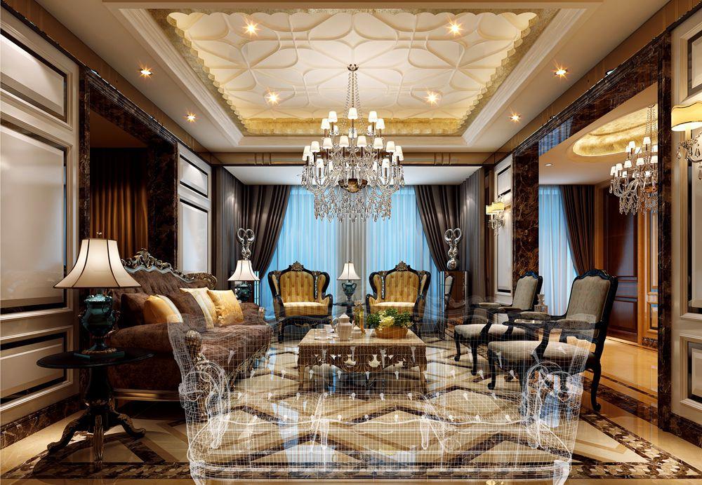 龙湖滟澜山独栋340平欧式古典风格无锡润邦装饰