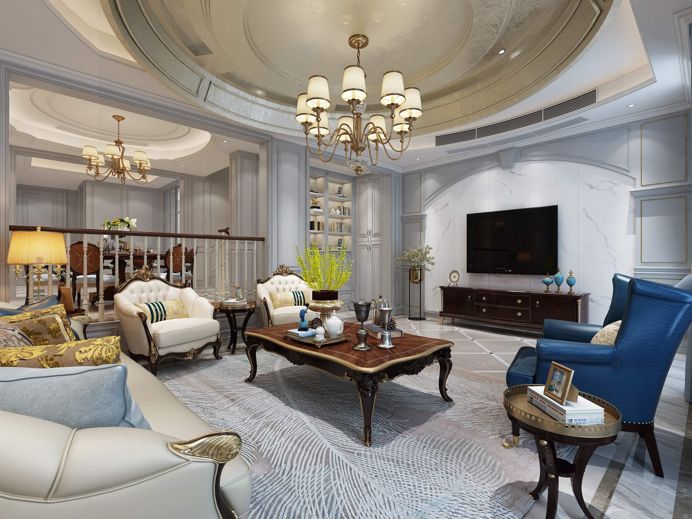 长泰国际300㎡联排别墅欧式风格案例赏析