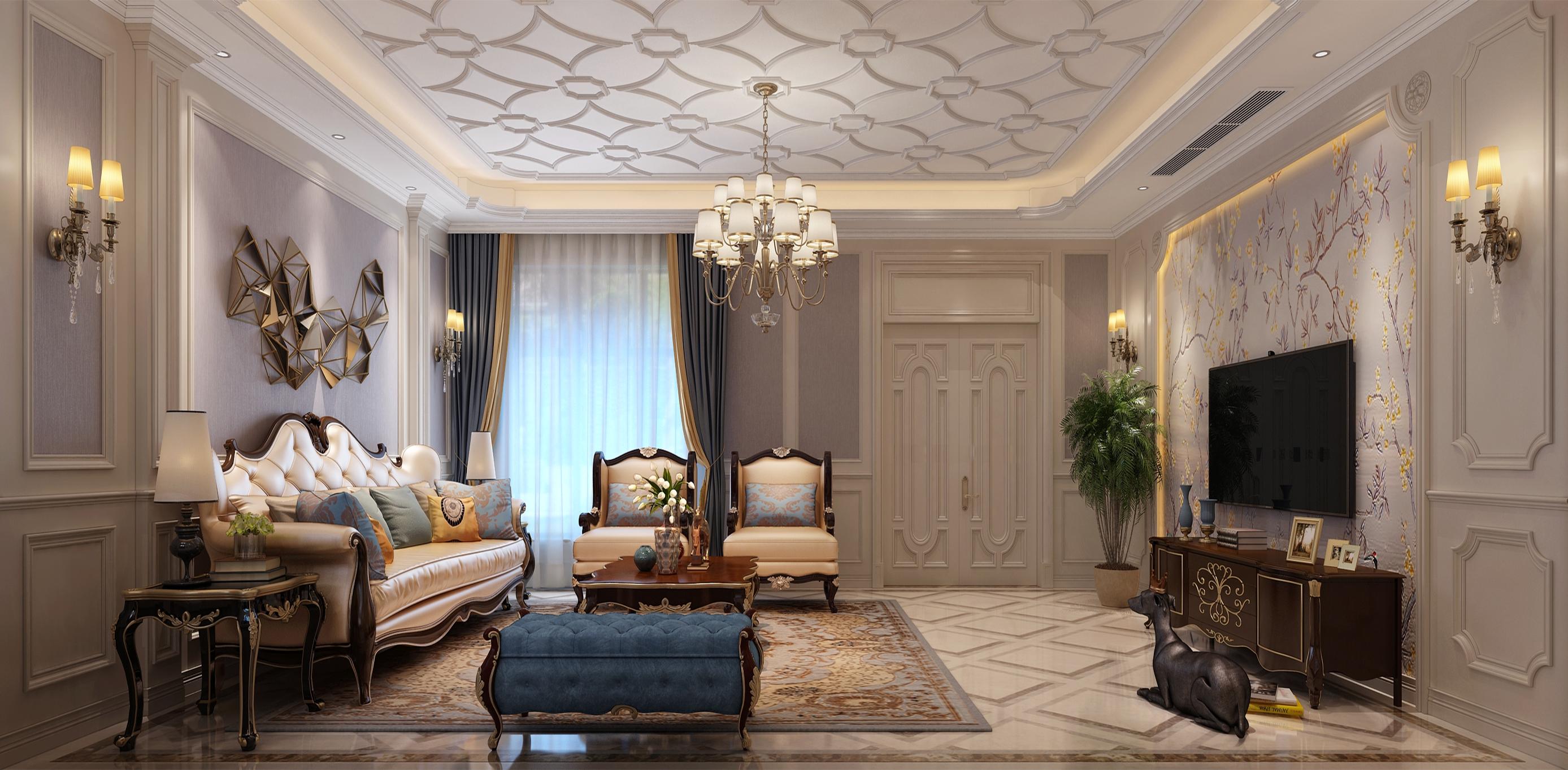龙湖悠山郡联排别墅290平方欧式风格案例赏析