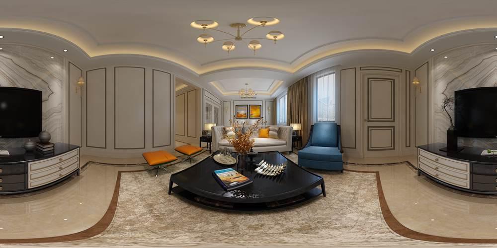 润邦别墅装饰:华润橡树湾240�O联排别墅欧式风格全景设计案例