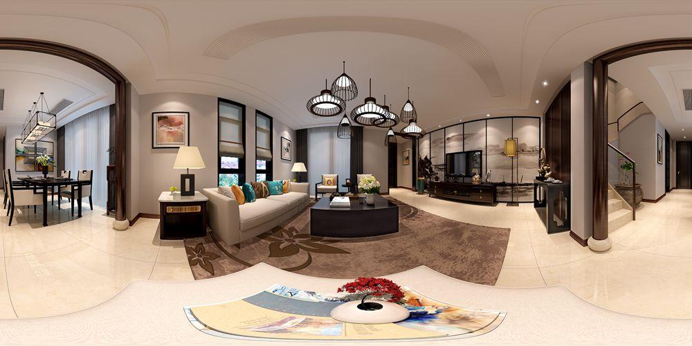 168平方新中式风格设计全景
