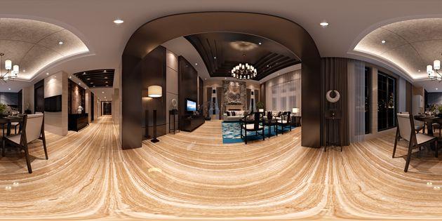 润邦国际装饰:新中式风格联排别墅设计案例